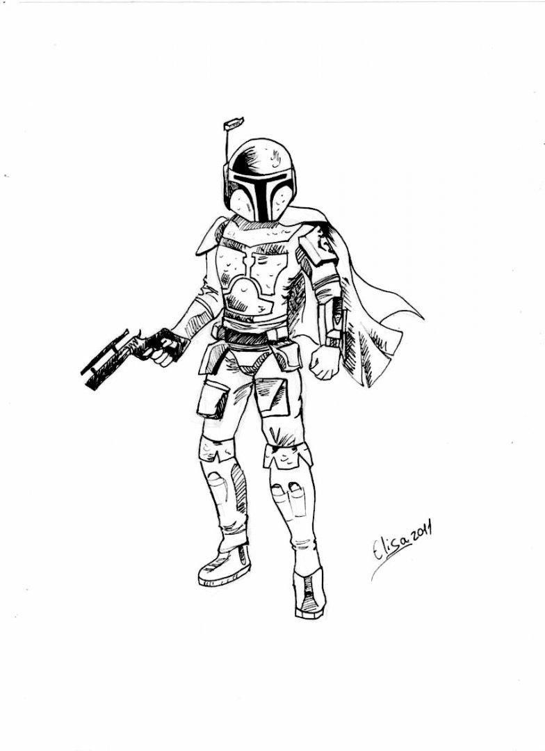 Star wars coloring pages general xksyc coloring pages for kids - Jango Fett Coloring Pages Malikna Net Star Wars