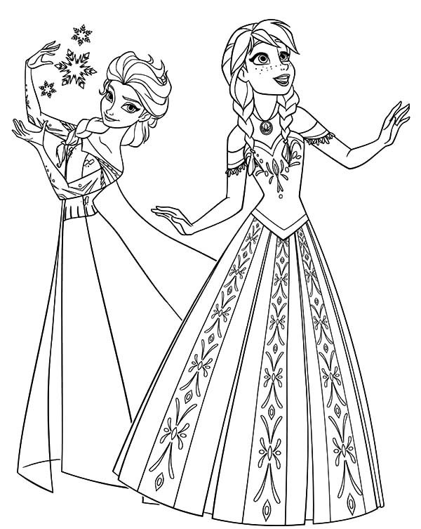 - Coloring Pages: Princess Anna And Queen Elsa From Frozen - Coloring Home