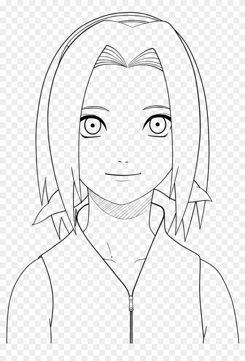 Naruto Sakura Drawing - Sakura From Naruto Coloring Pages Clipart  (#4707077) - PikPng