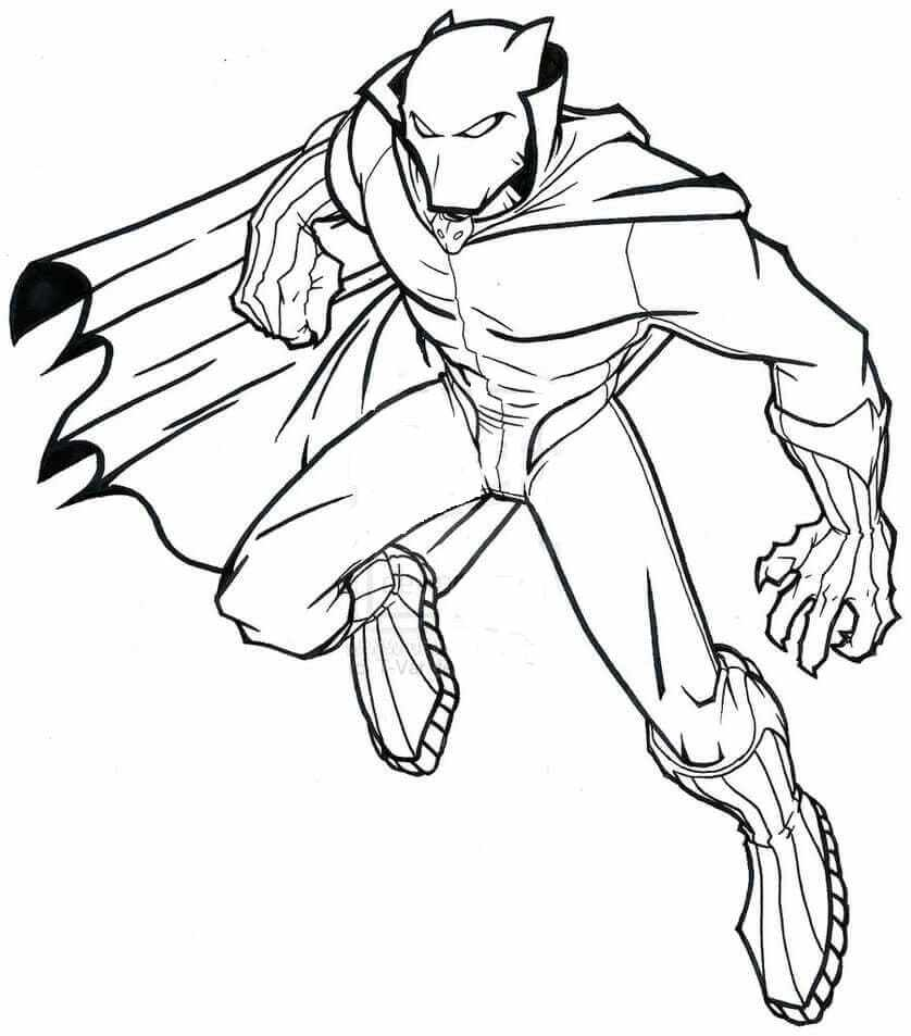 Black Panther Marvel Coloring Pages Coloring Home