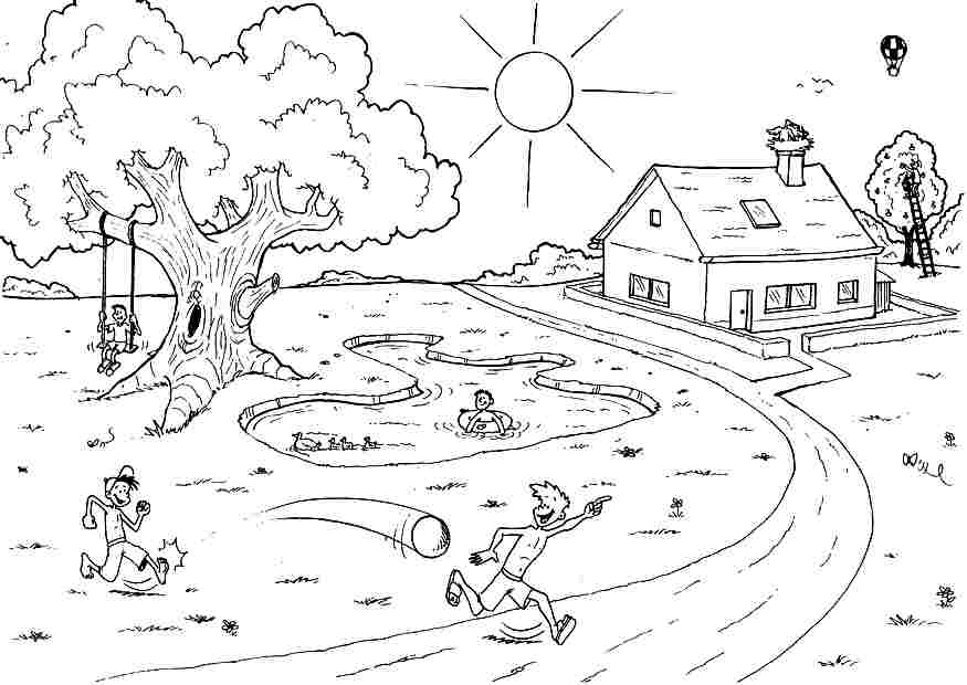 Summer Coloring Pages For Kids To Print Out AZ Coloring
