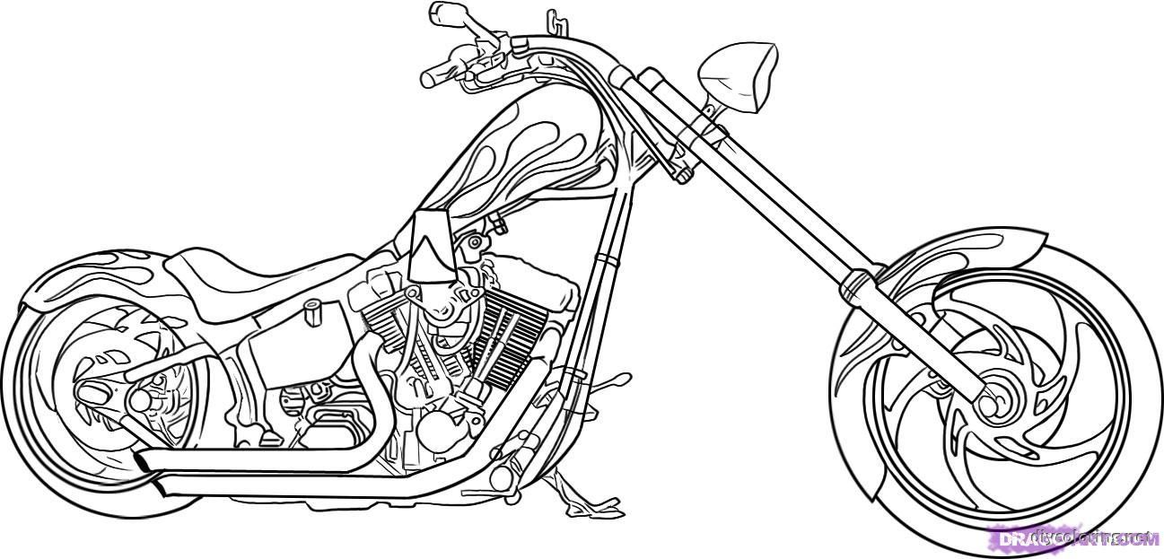 Motorcycle Coloring Pages Great Online pdf to print - Coloring pages
