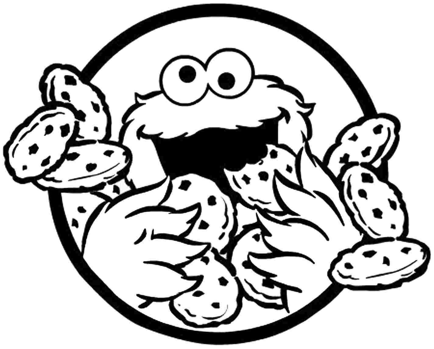 best cookie monster face coloring page pictures - printable ... - Monsters Coloring Pages Printable