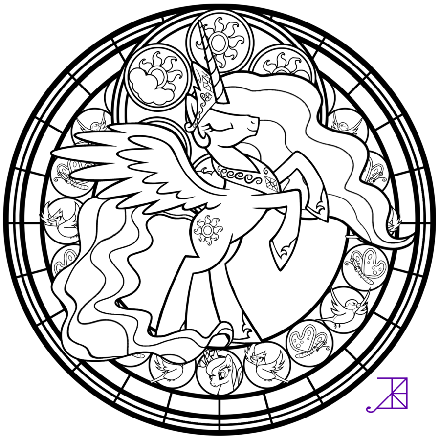 simple stained glass coloring pages - photo#14
