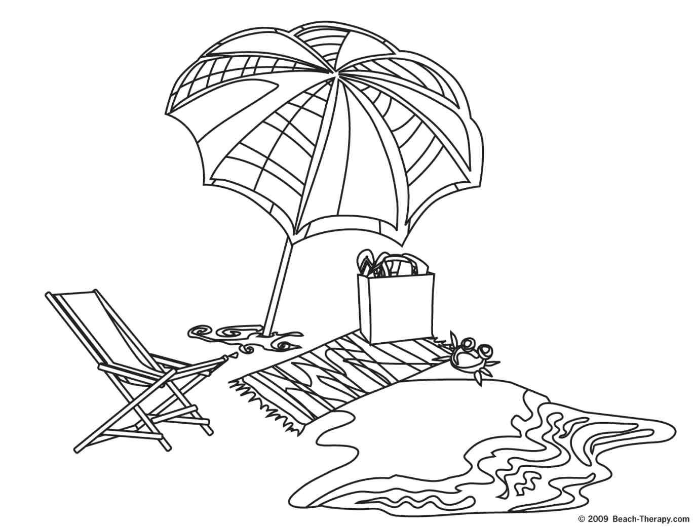 beach scenes coloring pages coloring home
