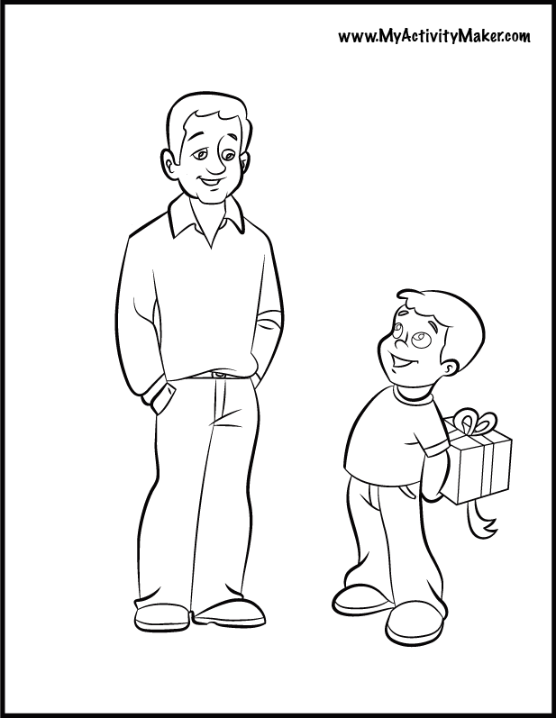 free coloring pages of dads - photo#10
