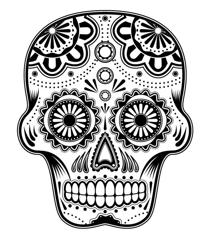 Free Coloring Pages Sugar Skulls - Coloring Home