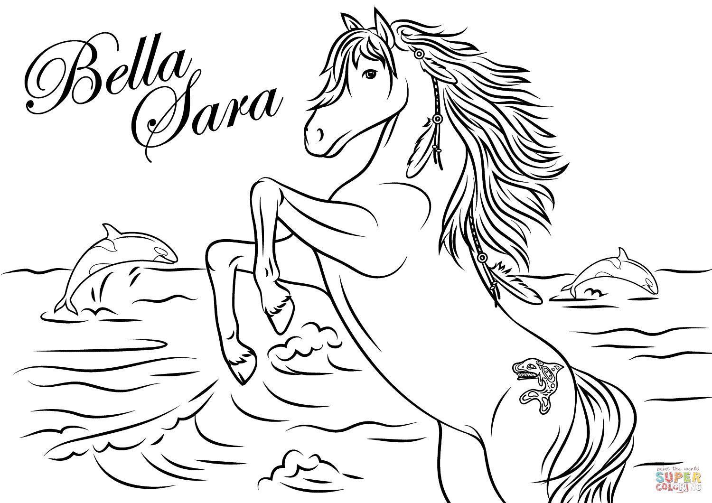 Bella Sara Coloring Pages Free