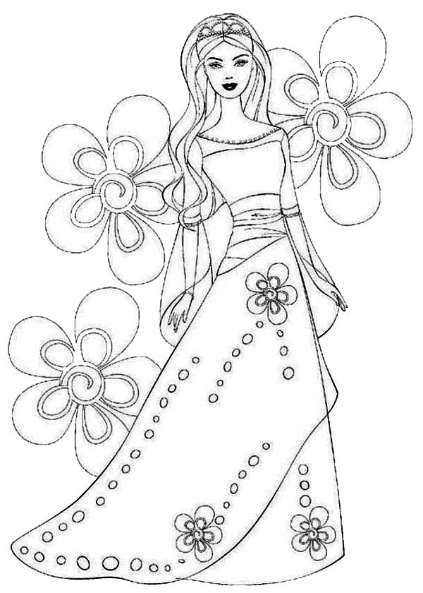 Flower Princess Coloring Pages Coloring Home Princess Baby Coloring Pages Free Coloring Sheets