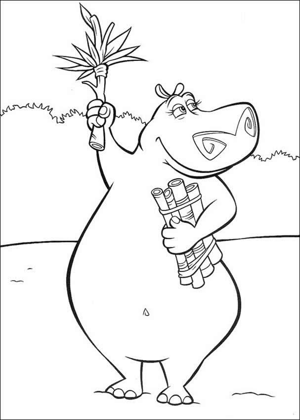 MADAGASCAR coloring pages - Gloria the hippo