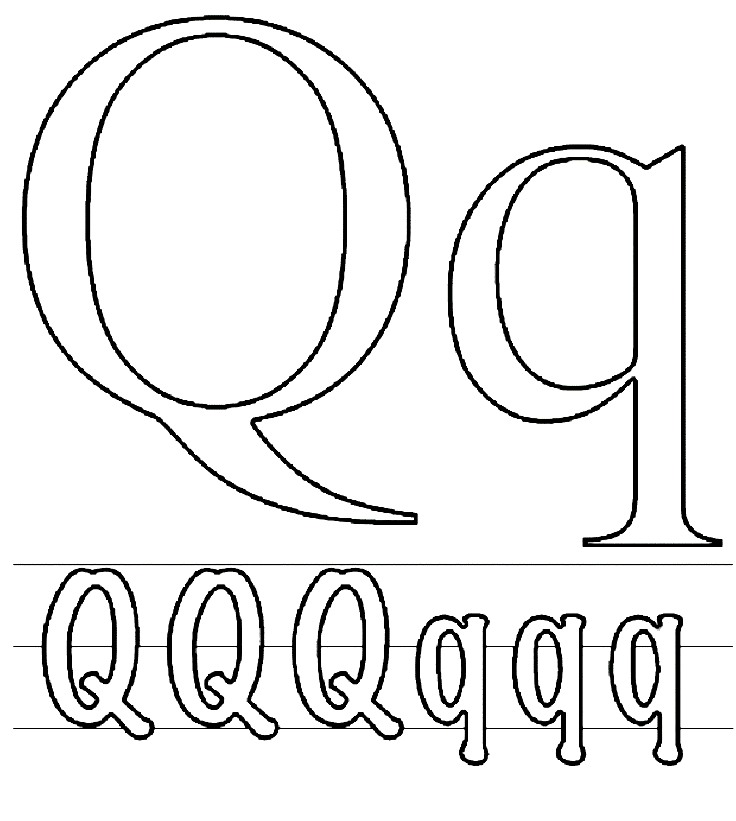 q coloring pages - photo #24