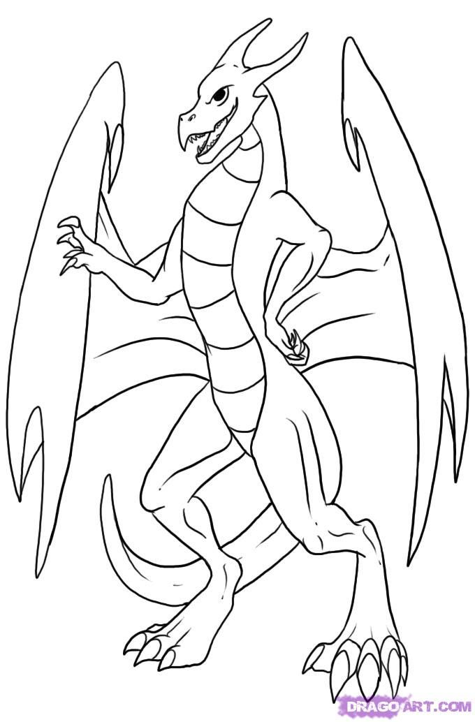 Simple Dragon Drawing: Simple Dragon Pictures
