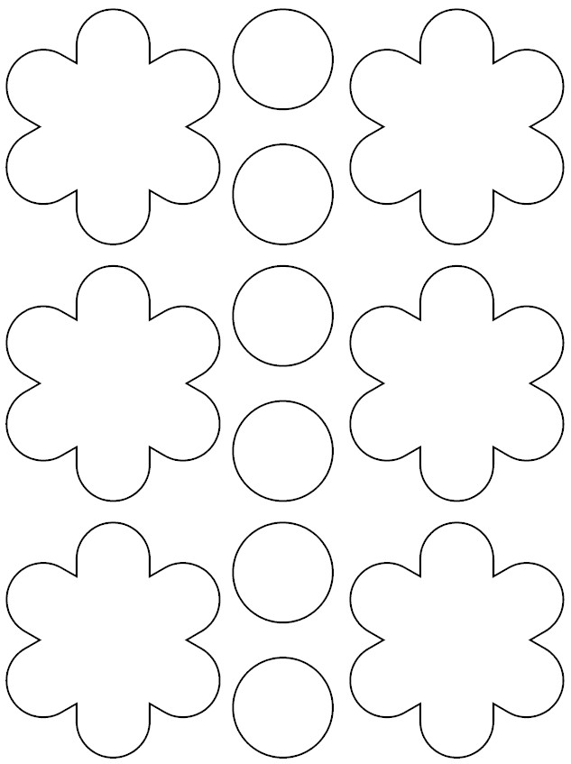 flower coloring pattern - photo #41