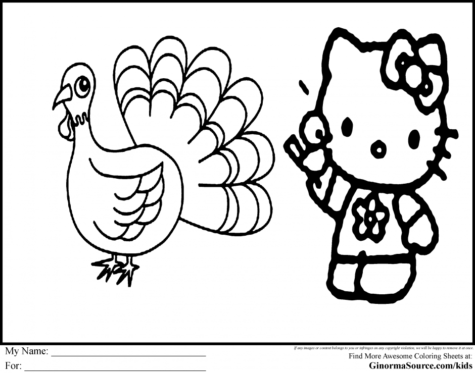 Cooked turkey coloring pages ginormasource kids kids for Cooked turkey coloring pages