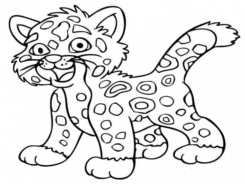 baby cheetah coloring pages - photo#12