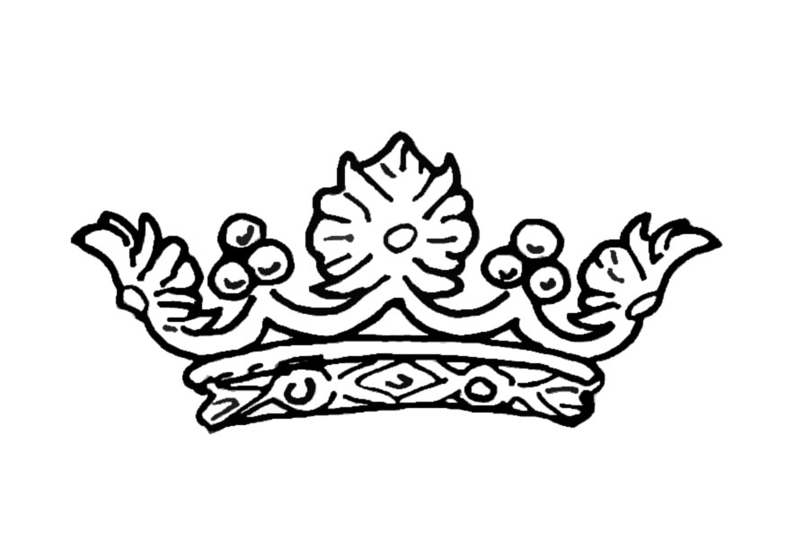 Coloring Pages Of Princess Crowns : Princess crown coloring page az pages
