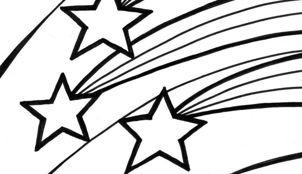 Shooting Star Coloring Pages Star Coloring Pages And Book |