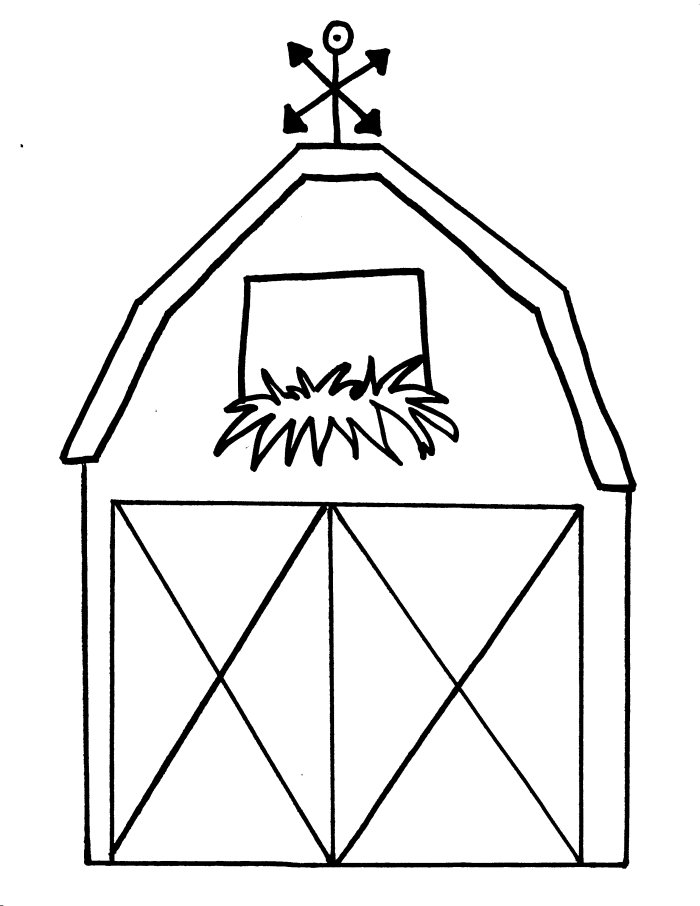 barn coloring pages for kids - photo#2