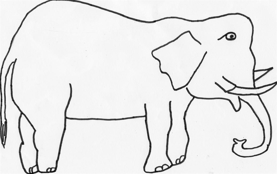 Elephant Coloring Pictures For Kids