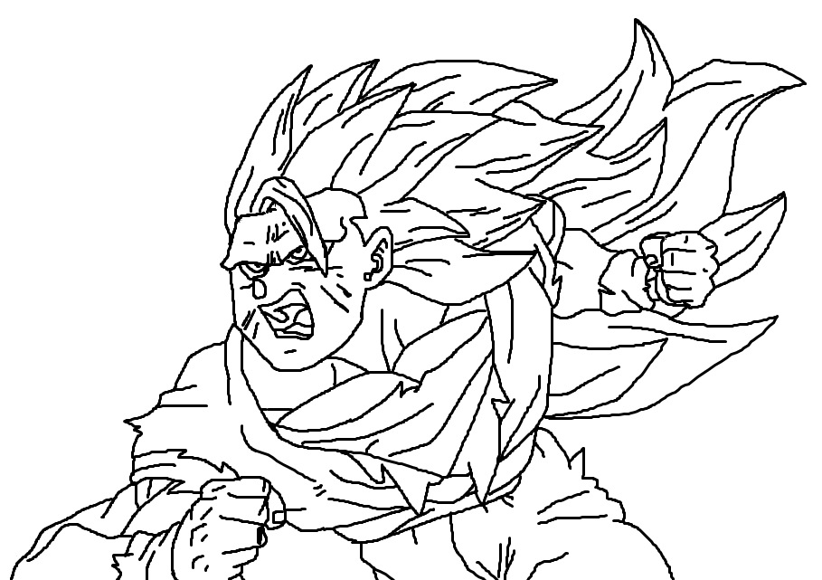 Goku Super Saiyan 3 Coloring Pages : Printable Coloring Sheet ...