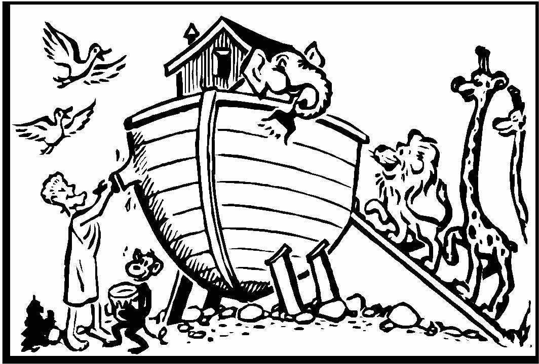 Coloring Pages Of Noahs Ark Four Rivers Church