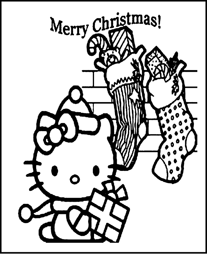 Hello Kitty Merry Christmas Coloring Pages - Christmas Coloring