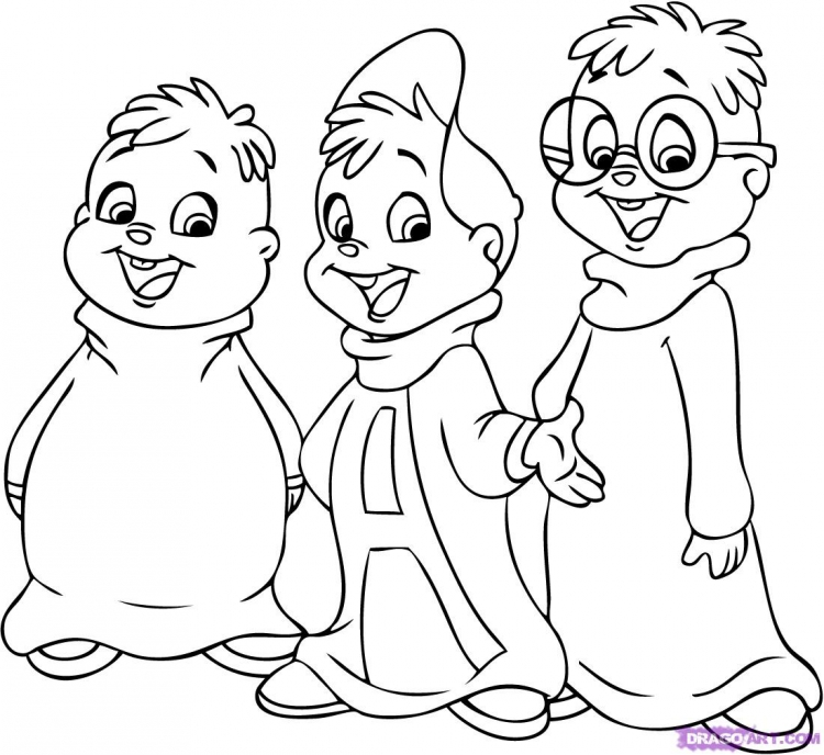 Alvin and the chipmunks the squeakquel coloring pages az for Chipmunks coloring pages free