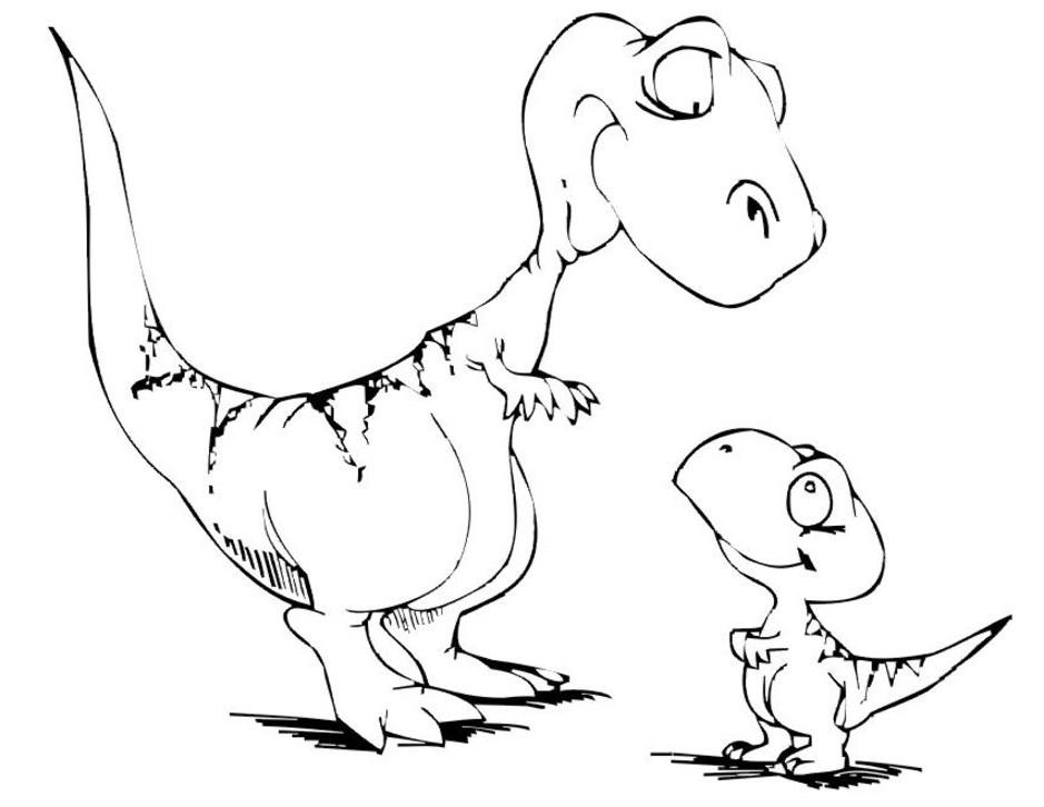 Cartoondinosaur Coloring Pages