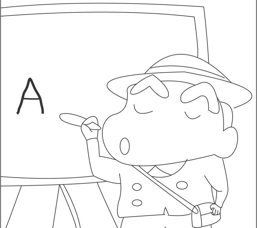 free shin chan traveling wallpaper crayon to sketch