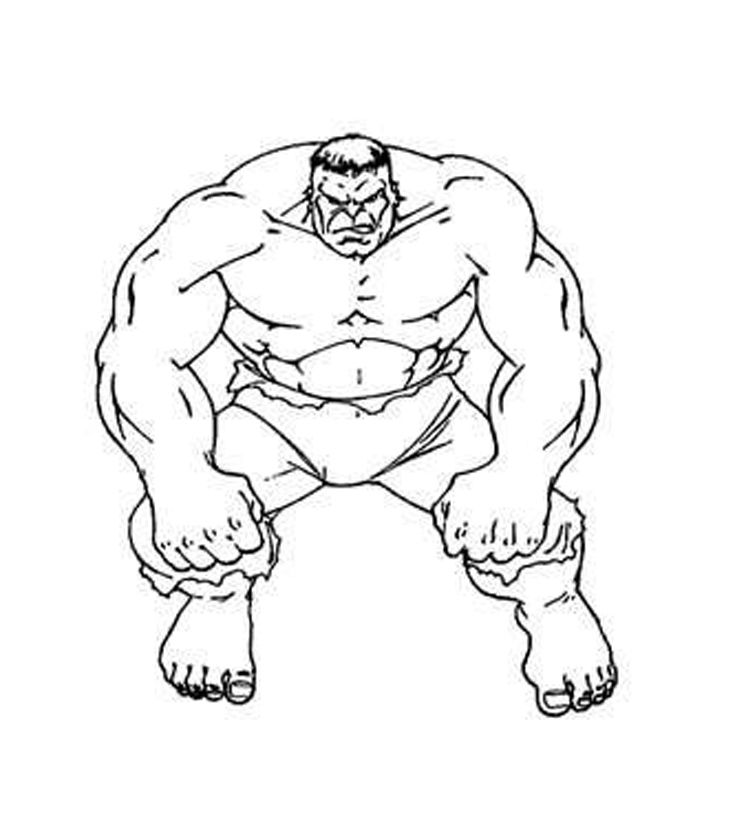 Incredible Hulk Coloring Page | Printable Coloring Pages