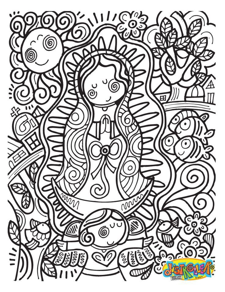 La Virgen De Guadalupe Coloring Pages - AZ Coloring Pages