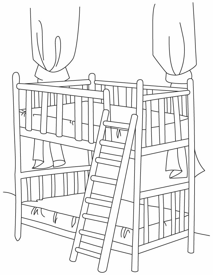 Bed Coloring Page - Coloring Home