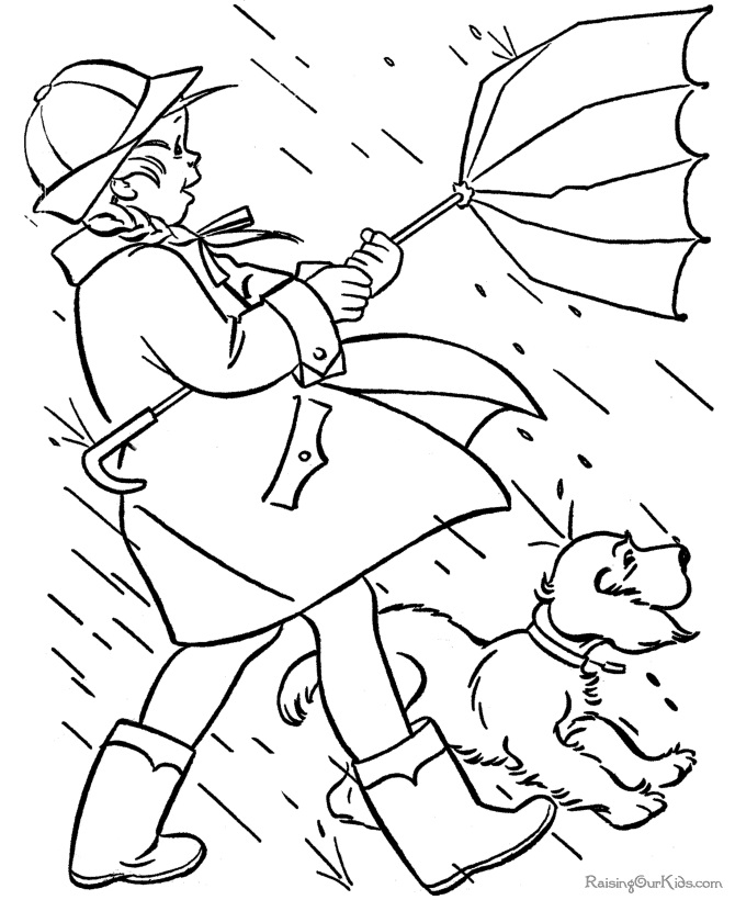 Rainy Day Coloring Pages For Kids - AZ Coloring Pages