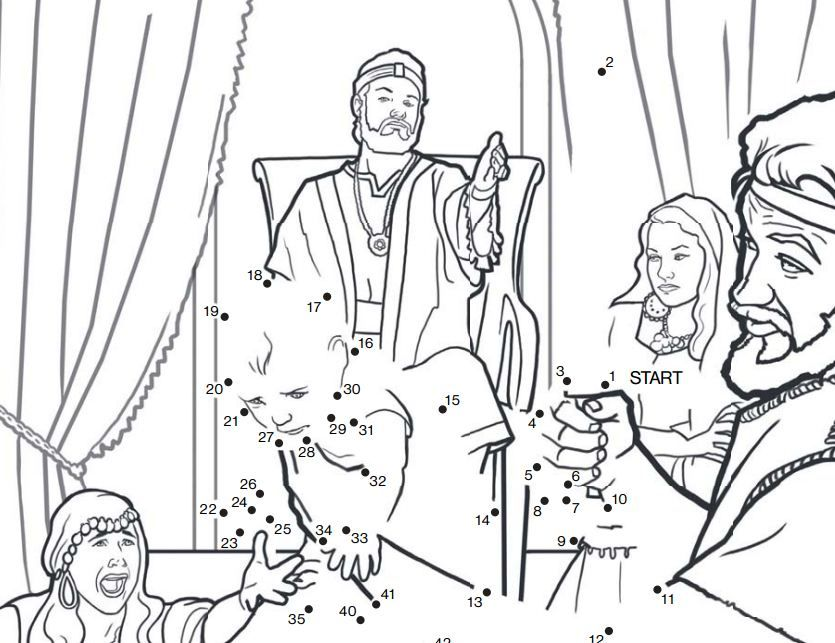 Dibujos Del Rey Salomon Para Colorear: King Solomon Coloring Page