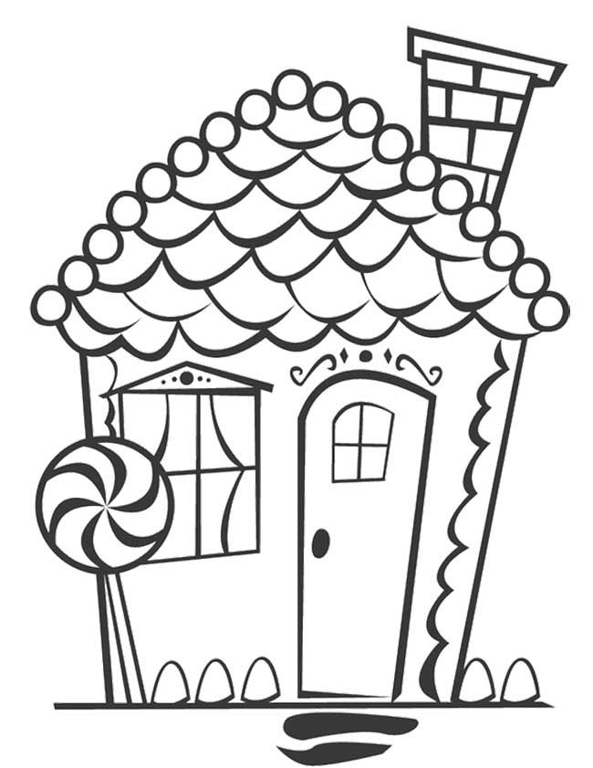 gingerbread house candy coloring pages - photo#13