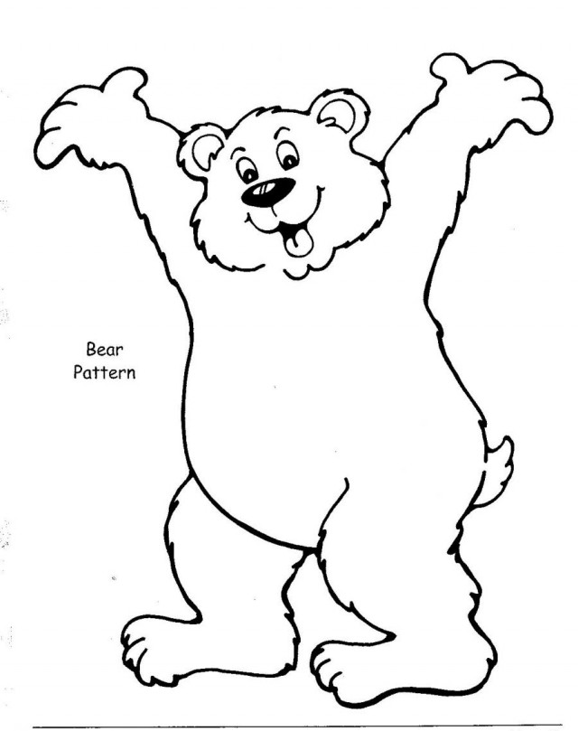bear coloring pages to print - photo#22