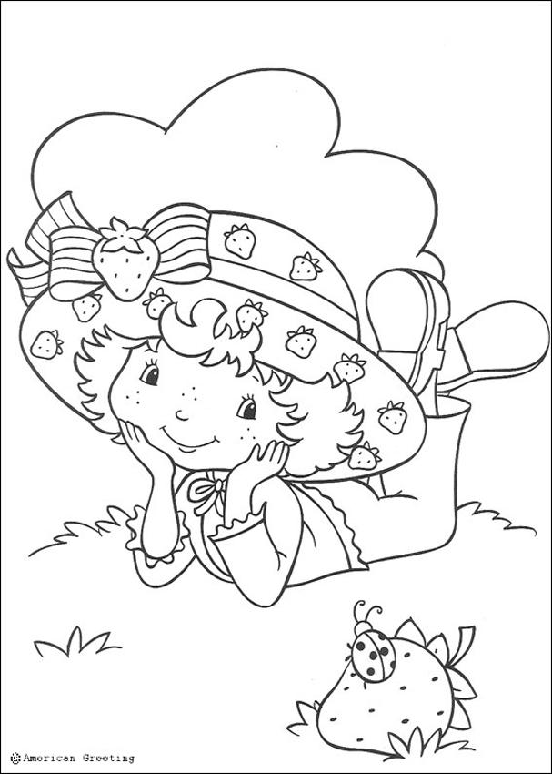 STRAWBERRY SHORTCAKE coloring pages - Strawberry Shortcake and ladybug