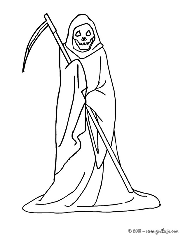 Grim Reaper Printable Coloring Pages Coloring Kids Within Grim Reaper Coloring Pages To Print