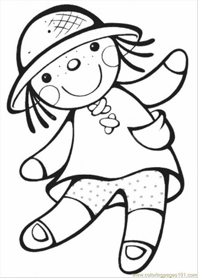 coloring pages of dolls - photo#3