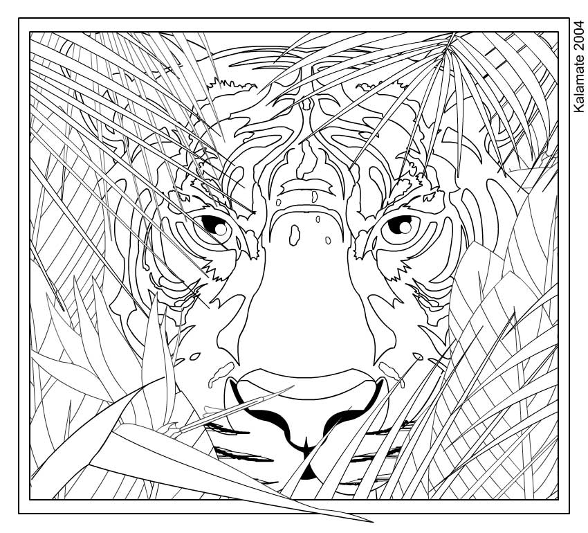 hard cat design coloring pages - photo#14
