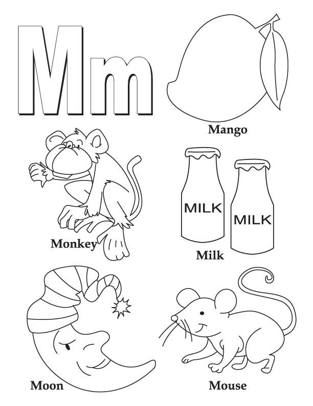 Free Printable Letter M Coloring Pages : My a to z coloring book letter m page download free