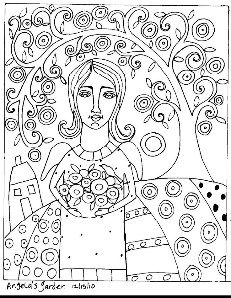 folk art coloring pages folk art coloring pages az coloring pages