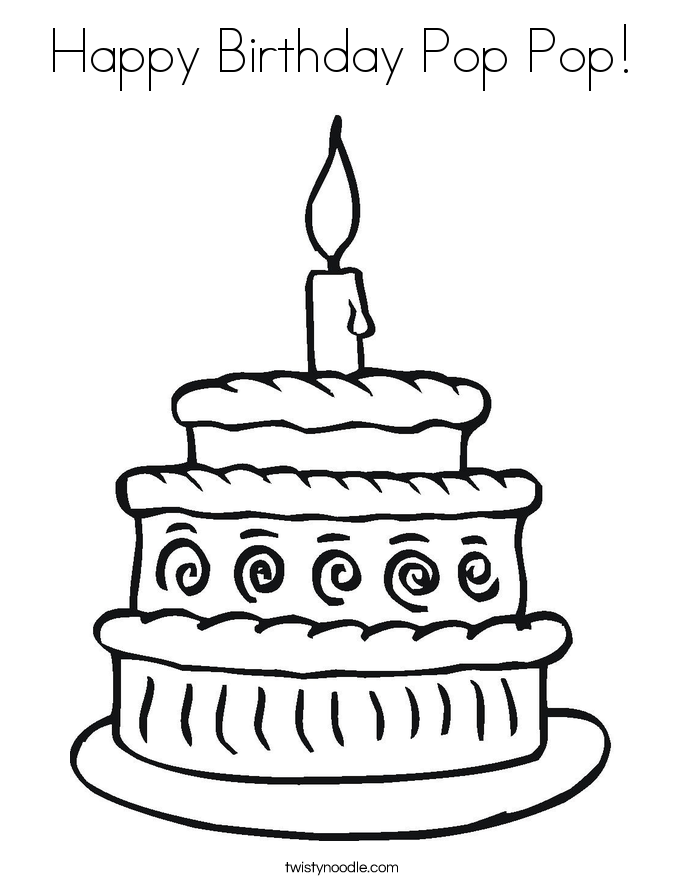 Birthday Coloring Pages Pdf : Description from pin coloring pages happy birthday cake