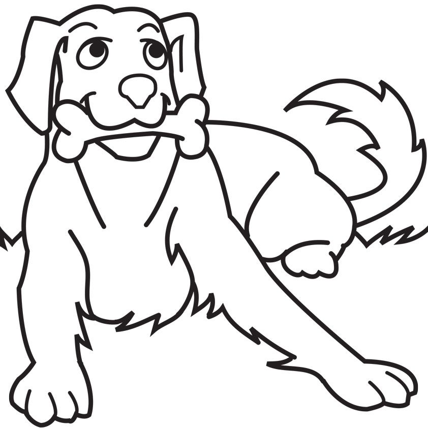 Coloring Pages Year Of The Dog : Dog coloring book page home