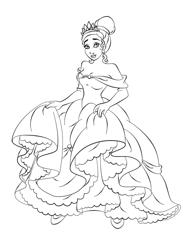 easy princess coloring pages - photo#39