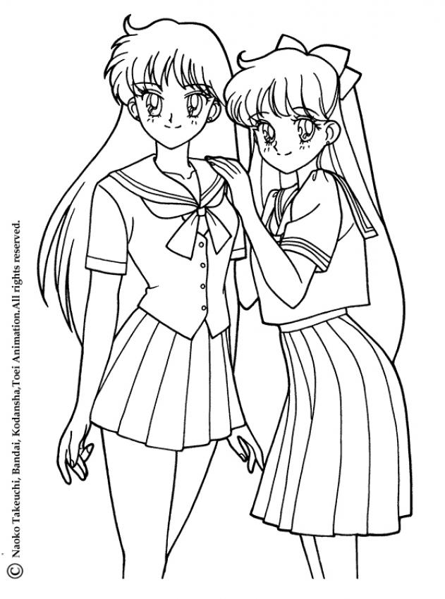 Chibi Coloring Pages - Coloring Home