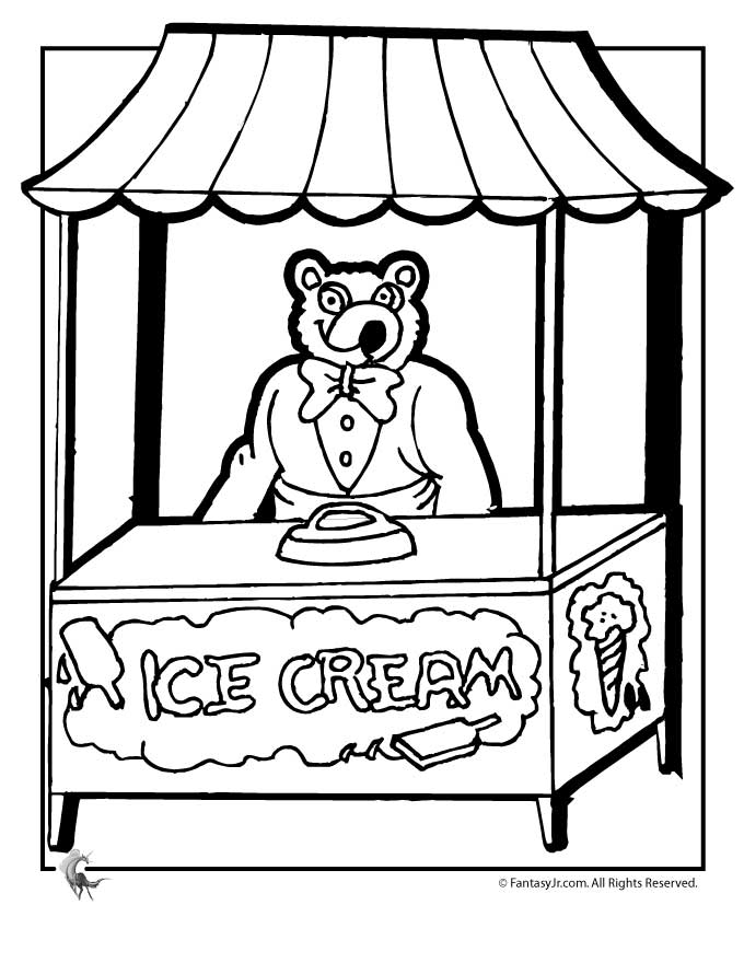ice cream store coloring pages - photo#5
