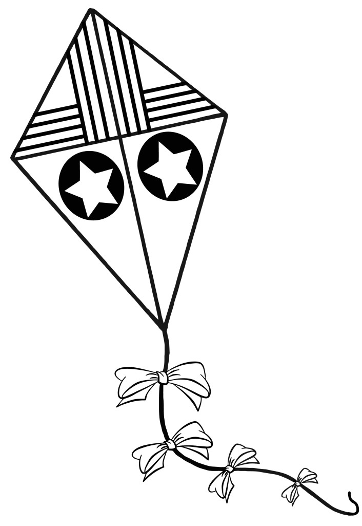 Star On The Kite Coloring Pages : New Coloring Pages
