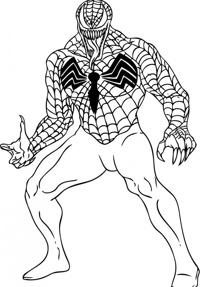 spiderman carnage coloring pages - photo#30