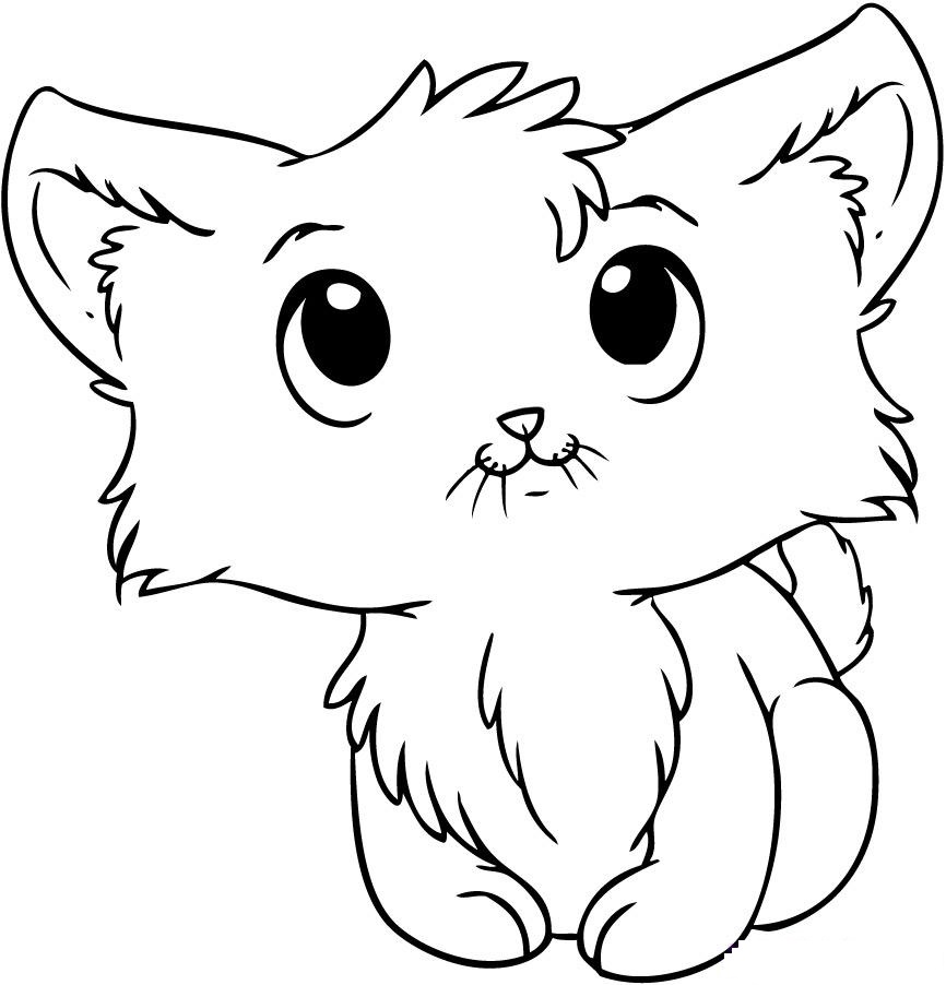 Coloring Pages Kitty : Kitty cat coloring page az pages